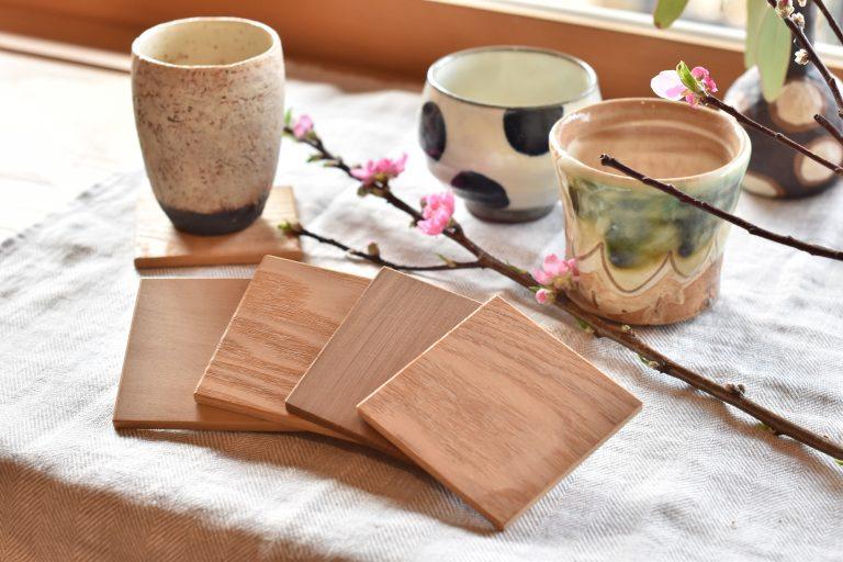 木製コースター5枚組セット