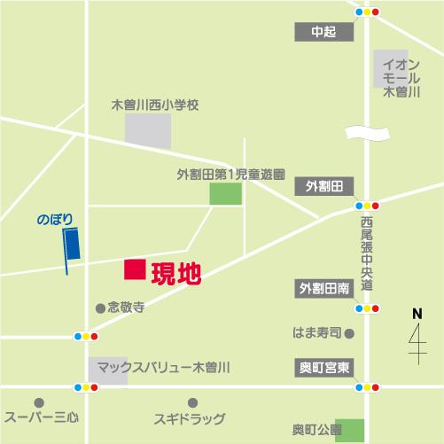 一宮市木曽川町玉ノ井map