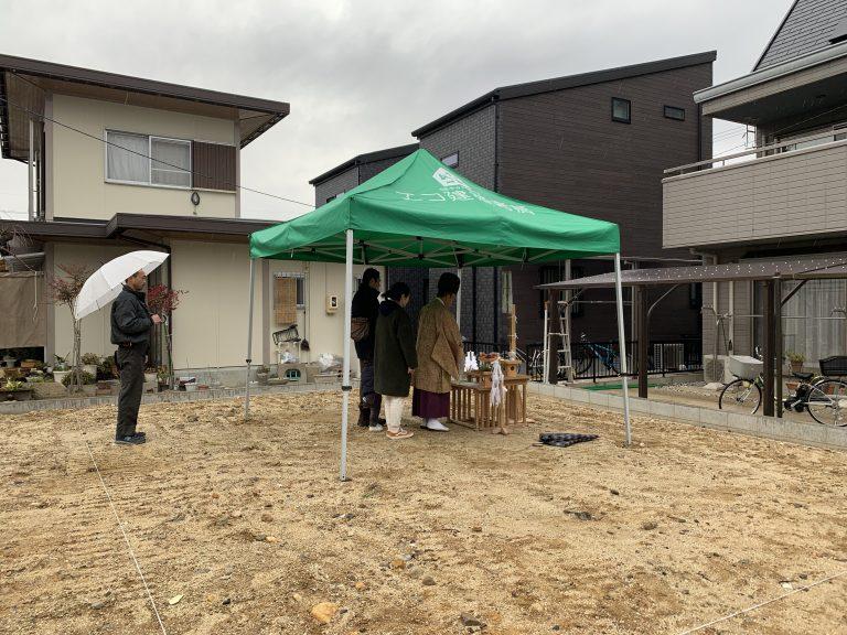団地の中に建つ豊田市E様邸地鎮祭☆
