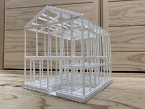 段差を愉しむスキップフロアの家 みよし市Y様邸 軸組模型☆