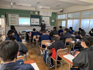 葉栗中学校で今年も夢講座