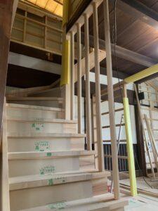 階段の架け替えafter